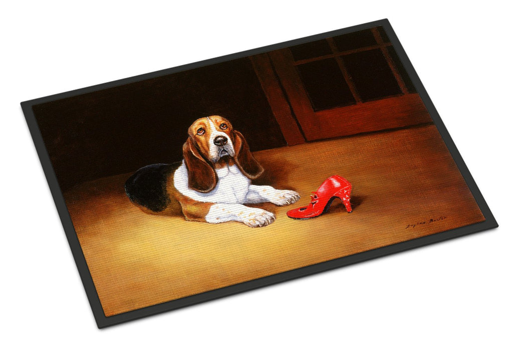 Buy this Basset and Shoe Indoor or Outdoor Mat 24x36 BDBA0372JMAT