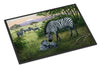 Zebras in the Field with Baby Indoor or Outdoor Mat 24x36 BDBA0385JMAT - the-store.com