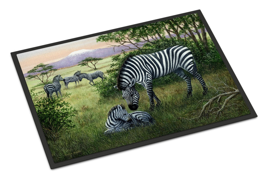 Buy this Zebras in the Field with Baby Indoor or Outdoor Mat 24x36 BDBA0385JMAT