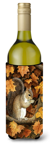Buy this Autumn Grey Squirrel by Daphne Baxter Wine Bottle Beverage Insulator Hugger BDBA0388LITERK