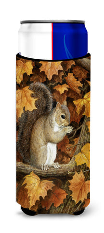 Buy this Autumn Grey Squirrel by Daphne Baxter Ultra Beverage Insulators for slim cans BDBA0388MUK