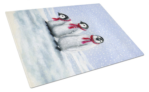 Buy this Penguins by Daphne Baxter Glass Cutting Board Large BDBA0419LCB