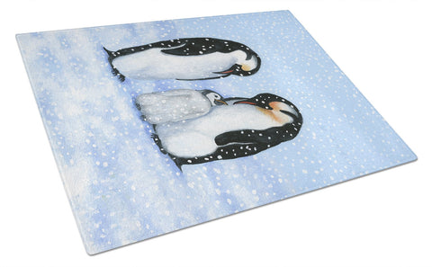 Buy this Penguin Family by Daphne Baxter Glass Cutting Board Large BDBA0427LCB