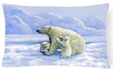 Buy this Polar Bears by Daphne Baxter Fabric Decorative Pillow BDBA0428PW1216