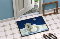Polar Bears Moonlight Snuggle Indoor or Outdoor Mat 24x36 BDBA0429JMAT