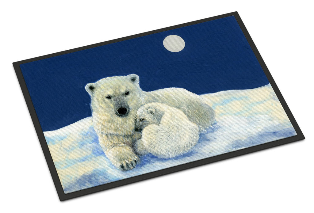 Buy this Polar Bears Moonlight Snuggle Indoor or Outdoor Mat 24x36 BDBA0429JMAT