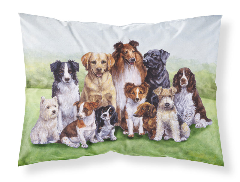 Buy this Springtime Dogs Fabric Standard Pillowcase BDBA316BPILLOWCASE