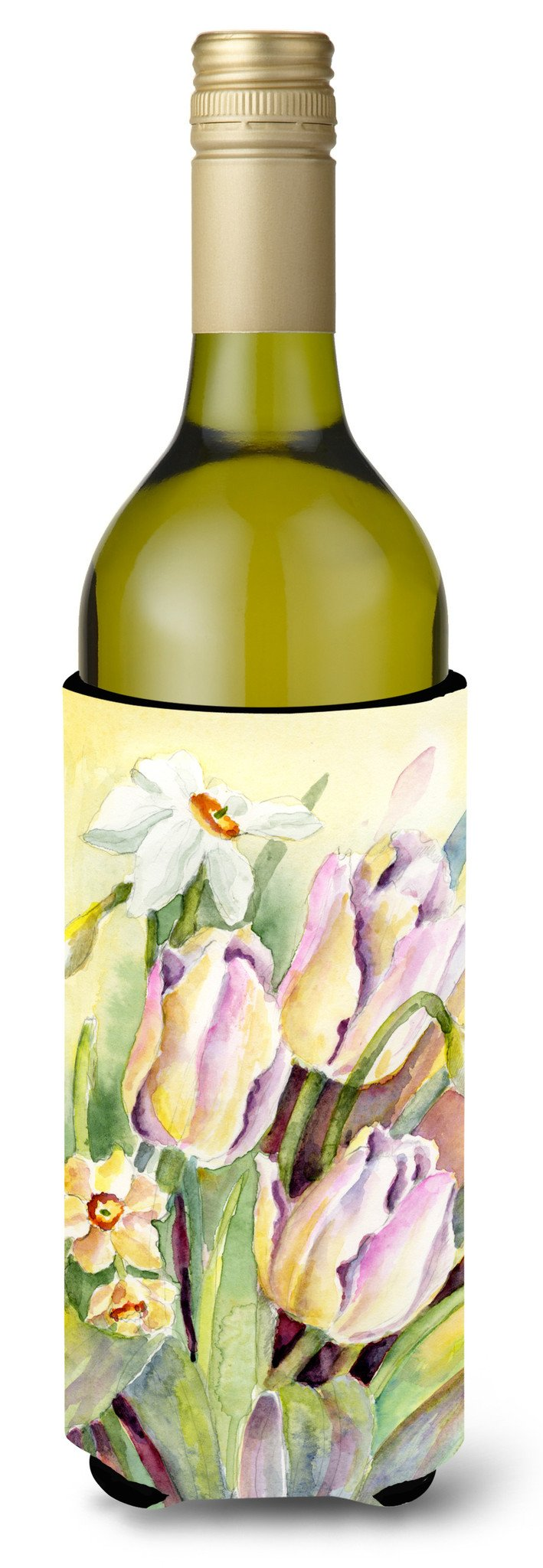 Buy this Tulips and Narcisuss Wine Bottle Beverage Insulator Hugger BMBO0425LITERK