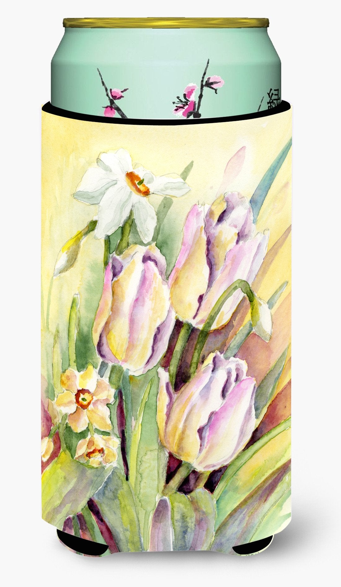 Buy this Tulips and Narcisuss Tall Boy Beverage Insulator Hugger BMBO0425TBC