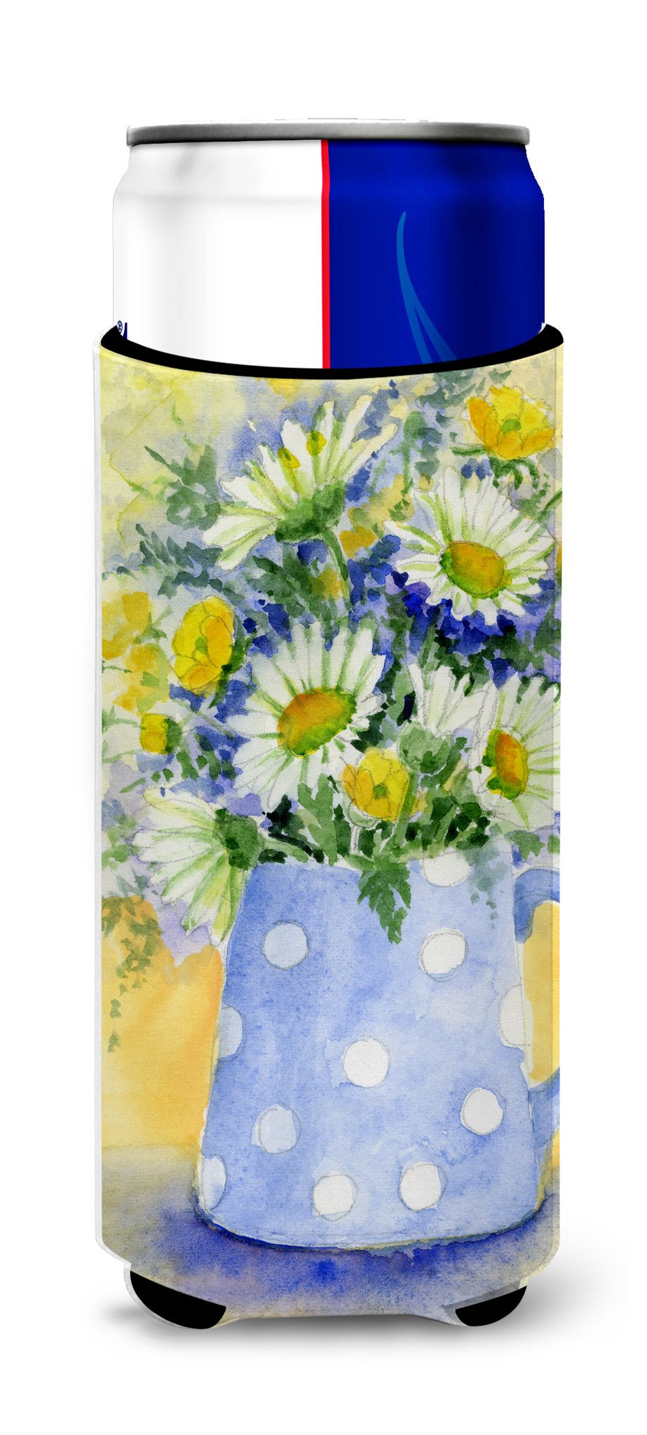Blue and Yellow Flowers by Maureen Bonfield Ultra Beverage Insulators for slim cans BMBO0730MUK - the-store.com