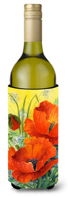 Poppies by Maureen Bonfield Wine Bottle Beverage Insulator Hugger BMBO0946LITERK by Caroline's Treasures