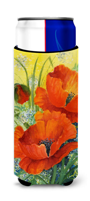 Buy this Poppies by Maureen Bonfield Ultra Beverage Insulators for slim cans BMBO0946MUK