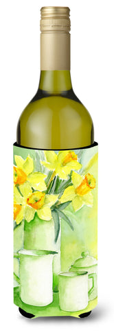 Buy this Yellow Daffodils by Maureen Bonfield Wine Bottle Beverage Insulator Hugger BMBO0970LITERK