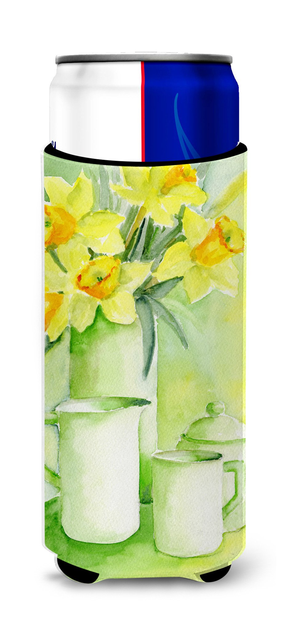 Buy this Yellow Daffodils by Maureen Bonfield Ultra Beverage Insulators for slim cans BMBO0970MUK