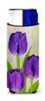Buy this Purple Tulips by Maureen Bonfield Ultra Beverage Insulators for slim cans BMBO1033MUK