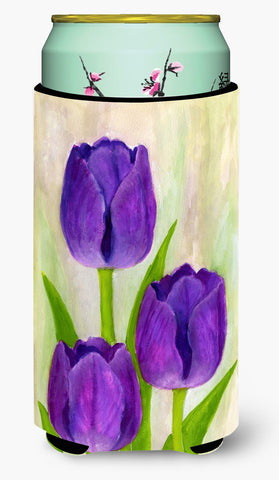 Buy this Purple Tulips by Maureen Bonfield Tall Boy Beverage Insulator Hugger BMBO1033TBC