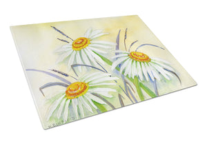 Buy this Daisies by Maureen Bonfield Glass Cutting Board Large BMBO1108LCB