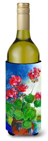 Buy this Geraniums by Maureen Bonfield Wine Bottle Beverage Insulator Hugger BMBO1118LITERK