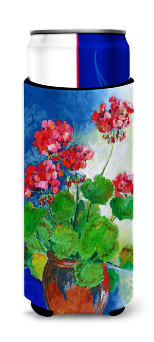 Buy this Geraniums by Maureen Bonfield Ultra Beverage Insulators for slim cans BMBO1118MUK