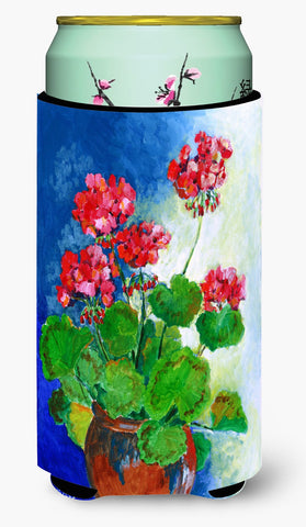 Buy this Geraniums by Maureen Bonfield Tall Boy Beverage Insulator Hugger BMBO1118TBC