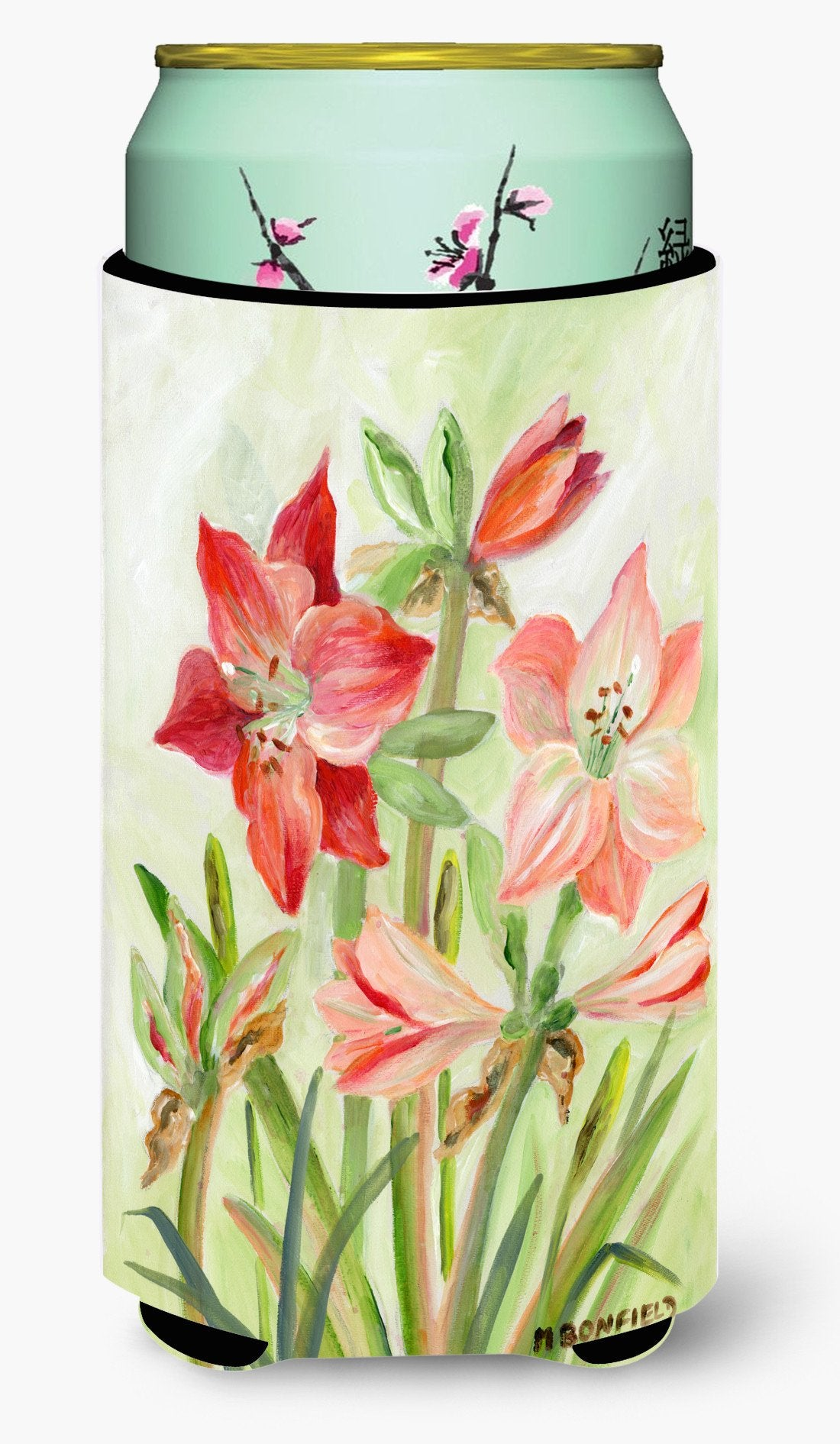Lillies II by Maureen Bonfield Tall Boy Beverage Insulator Hugger BMBO1373TBC by Caroline's Treasures