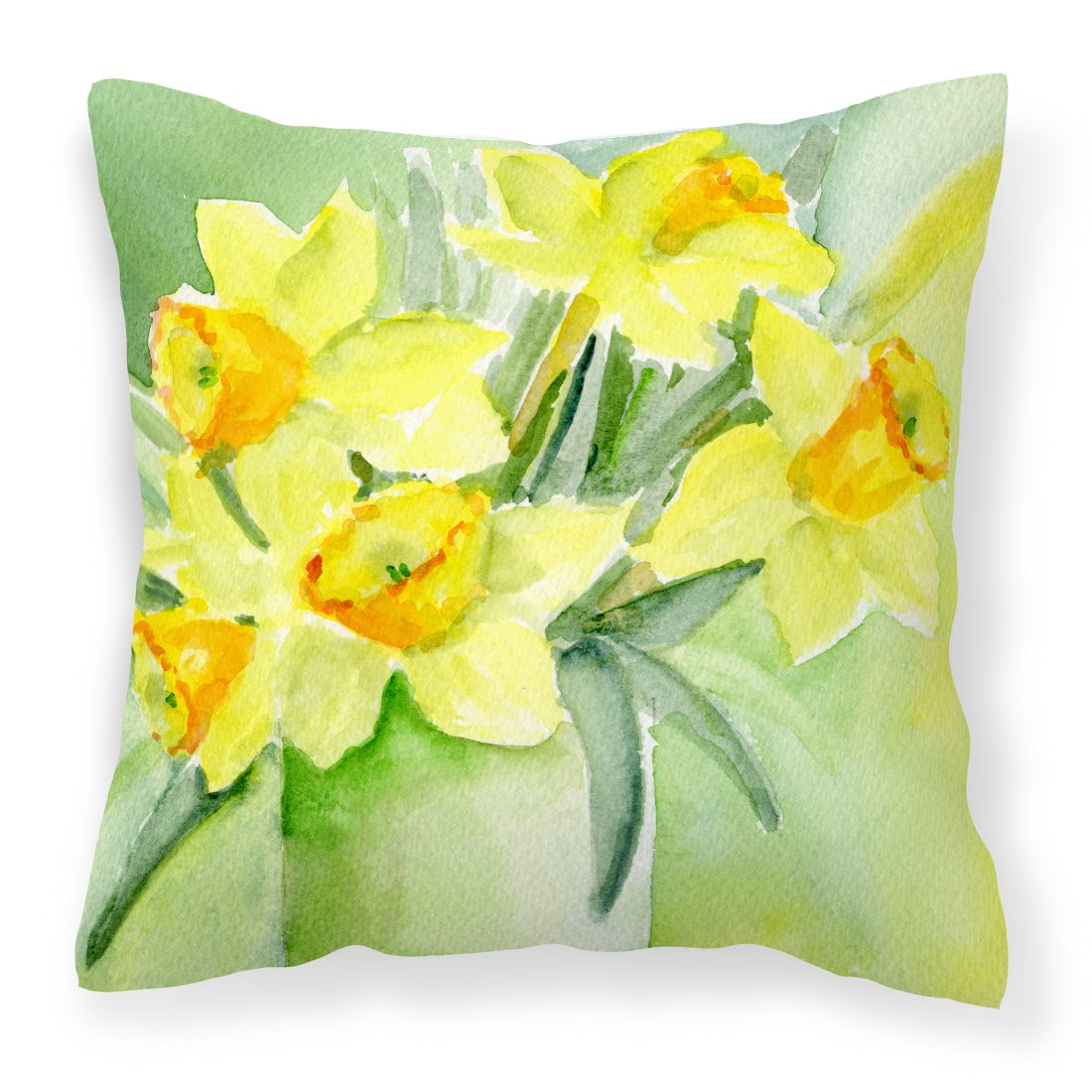 Daffodils by Maureen Bonfield Canvas Decorative Pillow by Caroline's Treasures