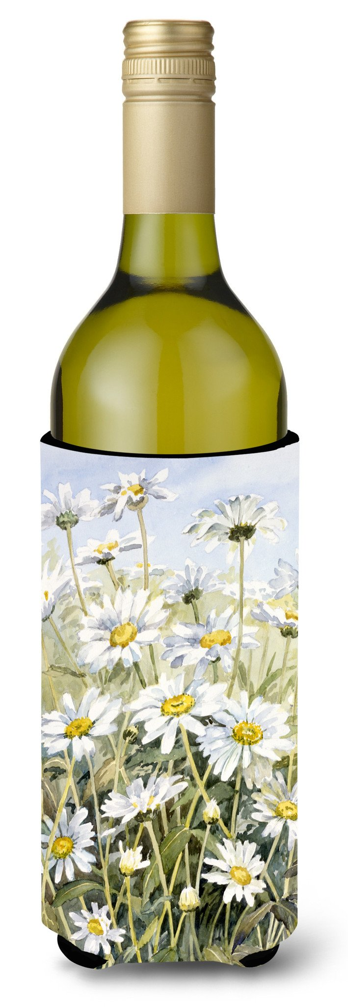 Daisies by Bettie Cheesman Wine Bottle Beverage Insulator Hugger CBC0043LITERK by Caroline's Treasures