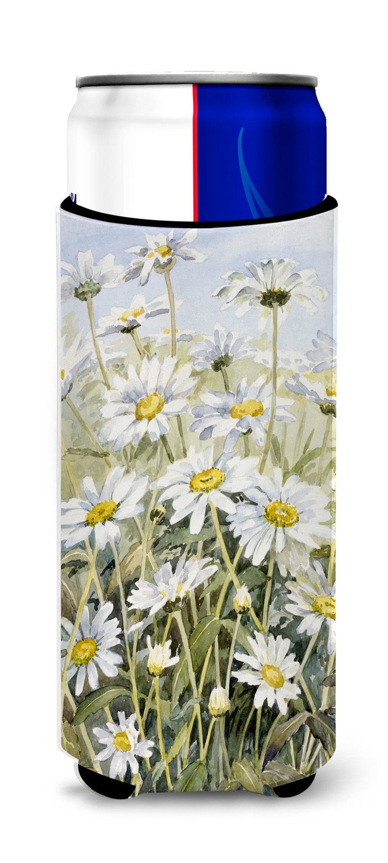 Buy this Daisies by Bettie Cheesman Ultra Beverage Insulators for slim cans CBC0043MUK