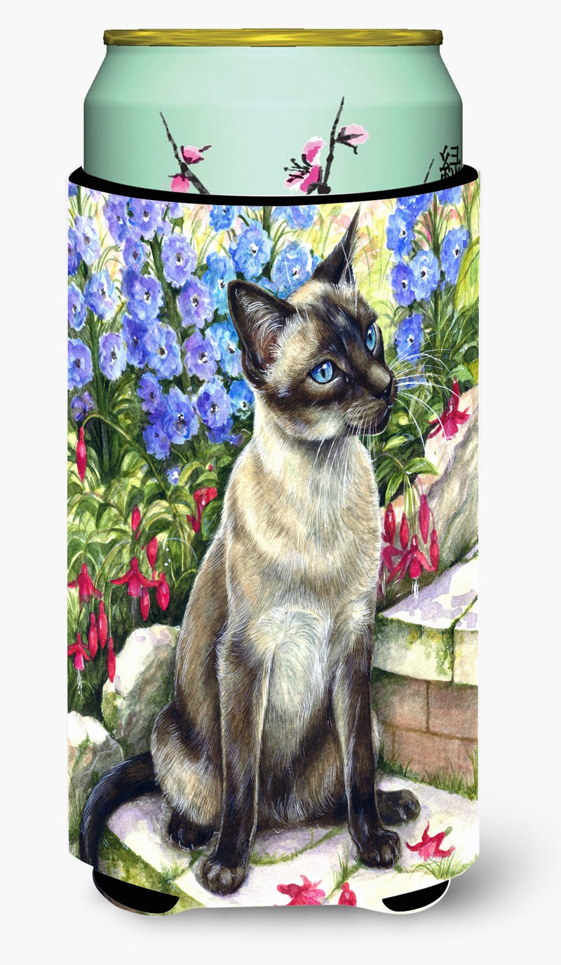 Buy this Siamese cat in the Garden Tall Boy Beverage Insulator Hugger CDCO0026TBC