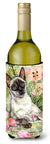 Buy this Siamese cat in the Roses Wine Bottle Beverage Insulator Hugger CDCO0033LITERK