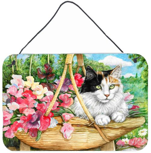 Buy this Cat In Basket Wall or Door Hanging Prints