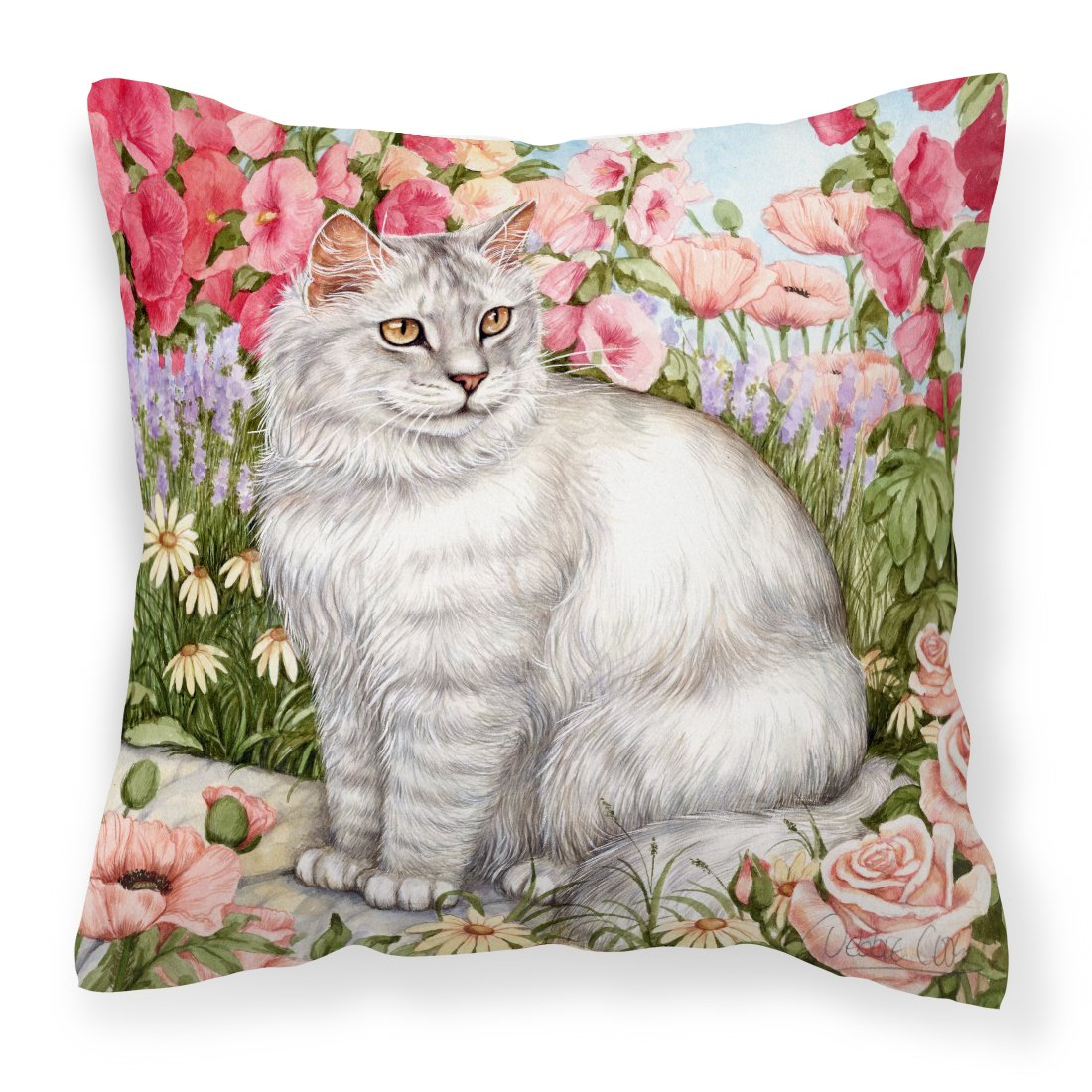 Cats Just Looking in the fish bowl Canvas Decorative Pillow by Caroline's Treasures