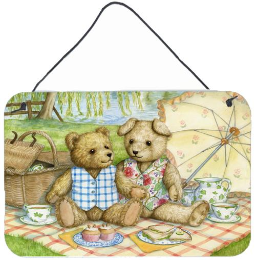 Summertime Teddy Bears Picnic Wall or Door Hanging Prints by Caroline's Treasures