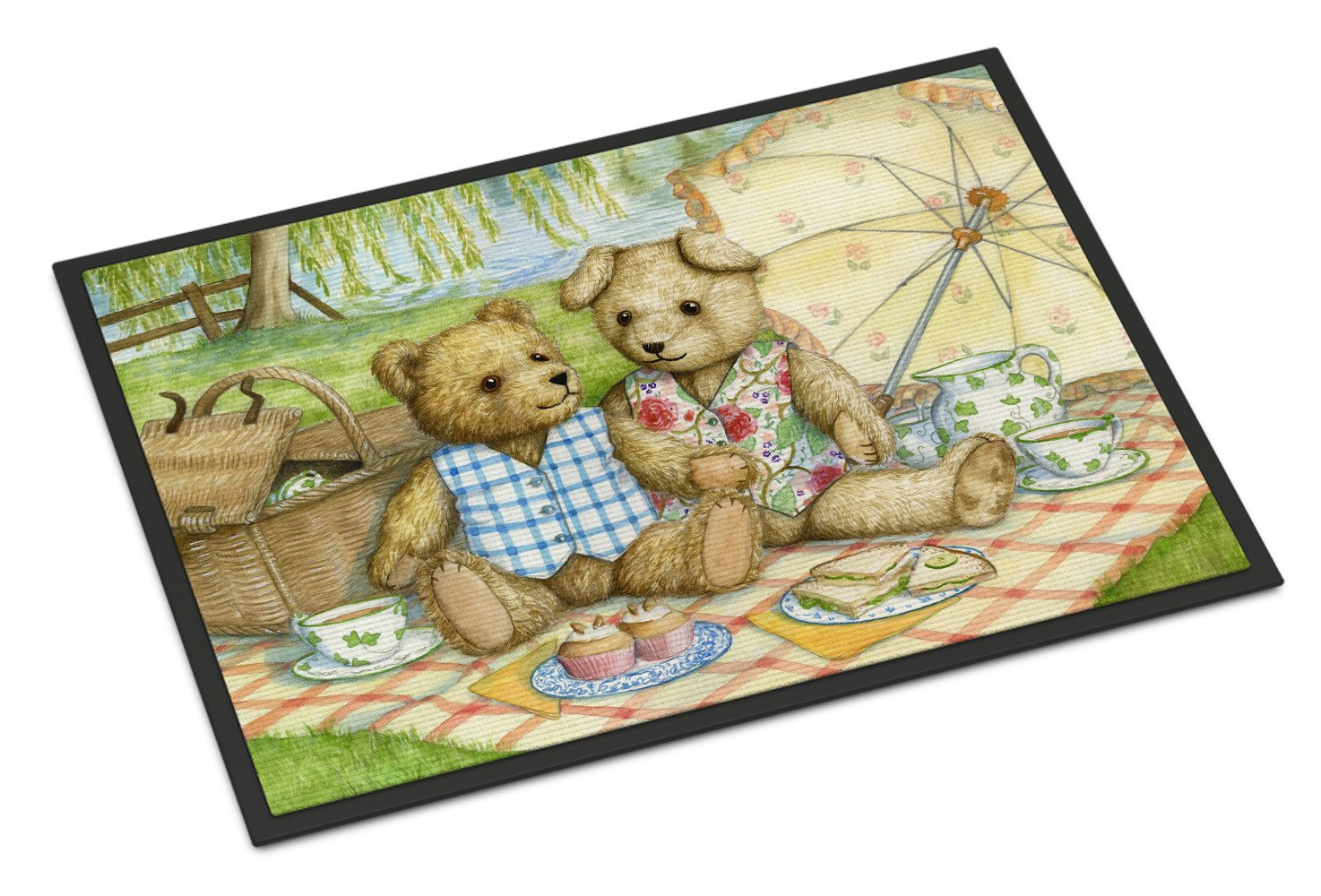 Summertime Teddy Bears Picnic Indoor or Outdoor Mat 18x27 CDCO0308MAT - the-store.com