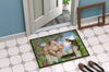 Pig at the Gate with the Cat Indoor or Outdoor Mat 24x36 CDCO0349JMAT - the-store.com