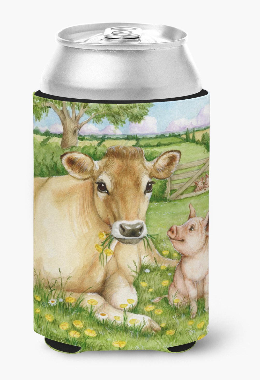 Pigs and Cow Good Friends Can or Bottle Hugger CDCO0360CC by Caroline's Treasures