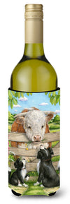 Bull and Pup Friends by Debbie Cook Wine Bottle Beverage Insulator Hugger CDCO0378LITERK by Caroline's Treasures