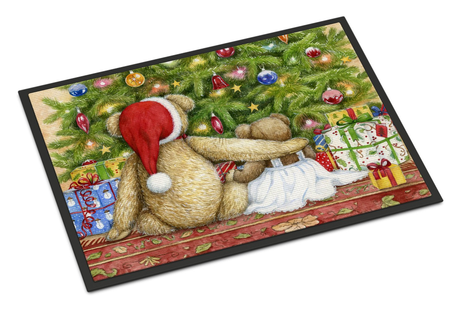 Christmas Teddy Bears with Tree Indoor or Outdoor Mat 18x27 CDCO0415MAT - the-store.com
