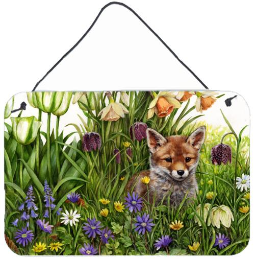 April Fox by Debbie Cook Wall or Door Hanging Prints CDCO0464DS812 by Caroline's Treasures