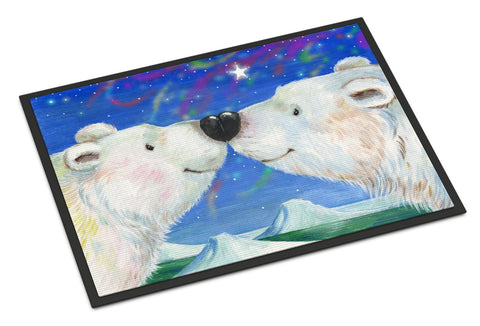 Buy this Polar Bears Polar Kiss by Debbie Cook Indoor or Outdoor Mat 18x27 CDCO0487MAT