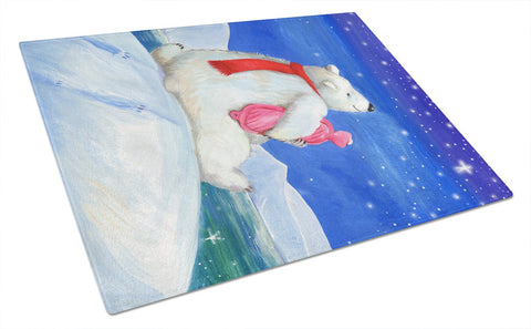Buy this Polar Bear with Hot Water Bottle Glass Cutting Board Large CDCO0488LCB