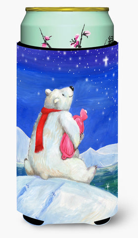 Buy this Polar Bear with Hot Water Bottle Tall Boy Beverage Insulator Hugger CDCO0488TBC