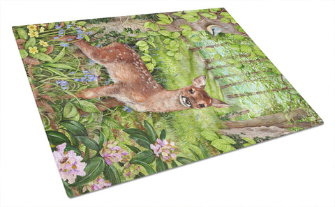 Buy this European Roe Deer Fawn Glass Cutting Board Large CDCO0504LCB