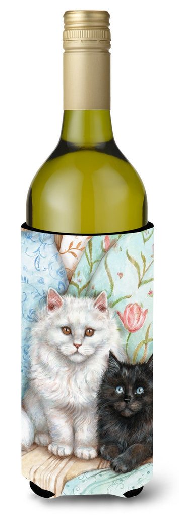 Buy this A Black Cat and A White Cat Wine Bottle Beverage Insulator Hugger CDCO0510LITERK