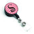 Letter S Monogram - Pink Black Polka Dots Retractable Badge Reel CJ1001-SBR by Caroline's Treasures