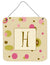Letter H Initial Monogram - Tan Dots Wall or Door Hanging Prints by Caroline's Treasures