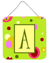 Buy this Letter A Initial Monogram - Green Aluminium Metal Wall or Door Hanging Prints