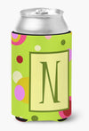Buy this Letter N Initial Monogram - Green Can or Bottle Beverage Insulator Hugger