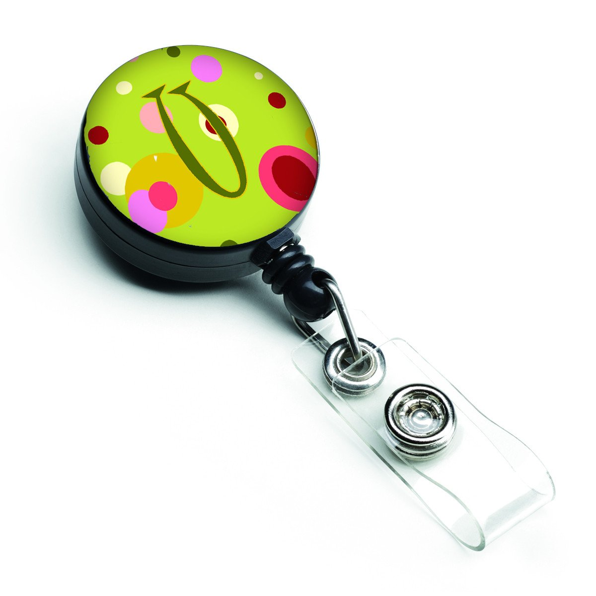 Letter U Monogram - Lime Green Retractable Badge Reel CJ1010-UBR by Caroline's Treasures