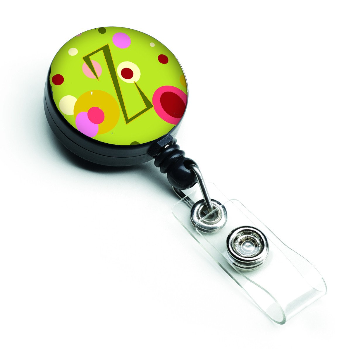 Letter Z Monogram - Lime Green Retractable Badge Reel CJ1010-ZBR by Caroline's Treasures